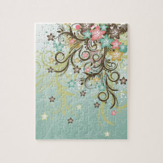 Awesome cool swirls dots leaves splatters flowers jigsaw puzzle