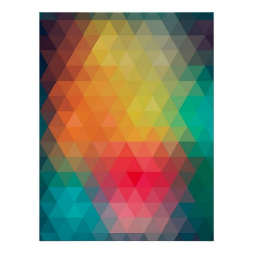 Awesome cool trendy colourful triangles pattern print