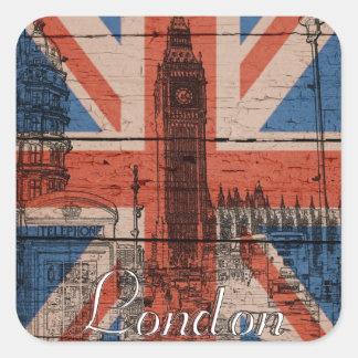 Awesome cool trendy old wood grunge U.k. flag Sticker