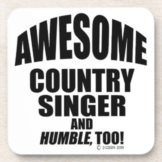 Awesome Country Singer Beverage Coasters