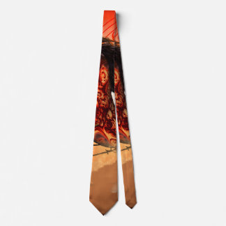 Awesome creepy running hors tie