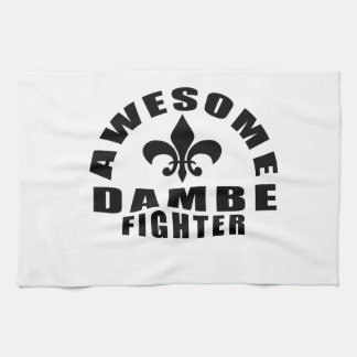 AWESOME DAMBE FIGHTER HAND TOWELS