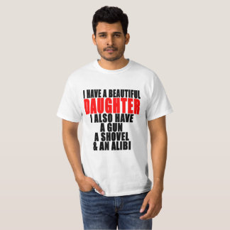 AWESOME DAUGHTER SHIRT I HAVE A BEAUTIFUL DAUGHTER