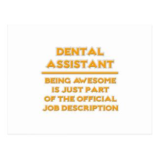 Awesome Dental Assistant .. Job Description Postcard