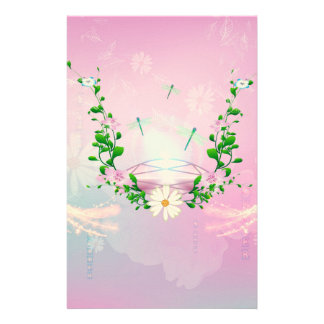 Awesome diamond on soft pink background stationery