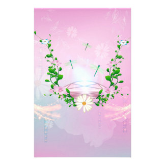 Awesome diamond on soft pink background stationery paper