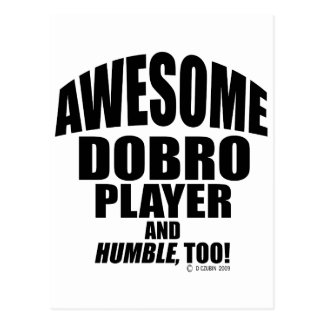 Awesome Dobro Player Post Card