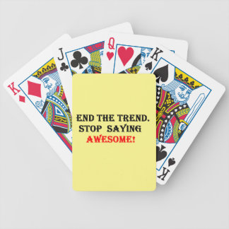 Awesome Don't Say It Bicycle Playing Cards