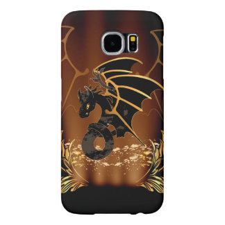 Awesome dragon in gold and black samsung galaxy s6 cases