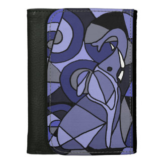 Awesome Elephant Abstract Art Wallet