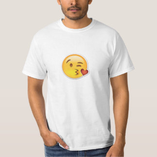 Awesome Emoji Kissing T-Shirt