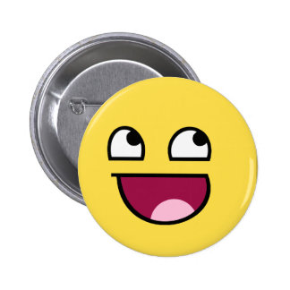 Awesome Face 6 Cm Round Badge