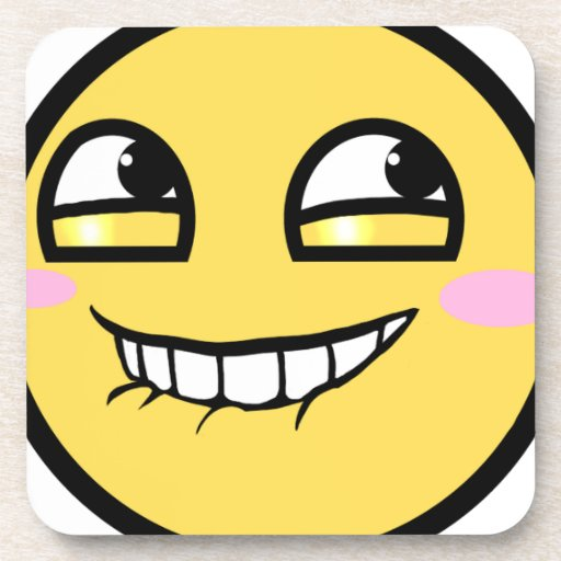 awesome face hurr durr beverage coaster