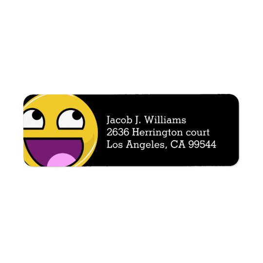 Awesome Face Internet Meme Return Address Label