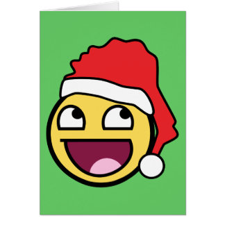 Awesome Face Santa Card