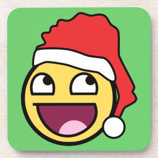 Awesome Face Santa Cork Coaster