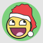 Awesome Face Santa Sticker