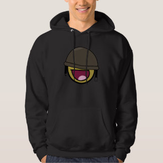 Awesome face smiley soldier hoodie