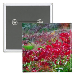 Awesome Fall Red Leaf Flower Colors on gifts fun 2 Inch Square Button