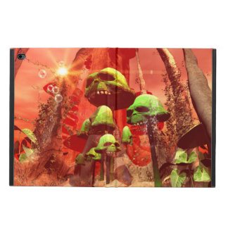 Awesome fantasy world with skull mushrooms