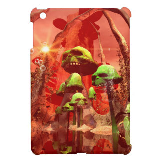 Awesome fantasy world with skull mushrooms case for the iPad mini
