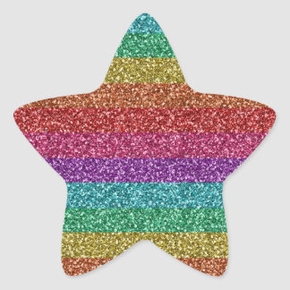 Awesome fashionable trendy rainbow bright colours star sticker