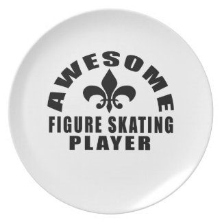 AWESOME FIGURE SKATING PLAYER PARTY PLATE