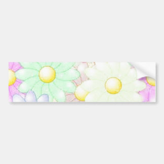 Awesome Flowers Bumper Sticker