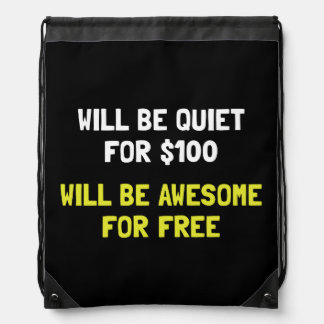 Awesome For Free Drawstring Bag