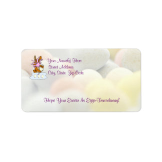 Awesome Frustrated Easter Bunny Decorating Eggs Address Label