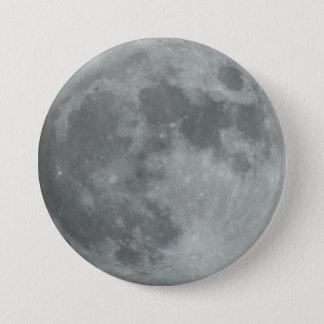 Awesome Full Winter Moon Crisp Dark Sky Lunar 7.5 Cm Round Badge