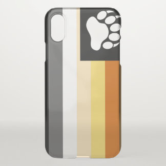 Awesome Gay Bears Pride Flag Bear Paw iPhone X Case