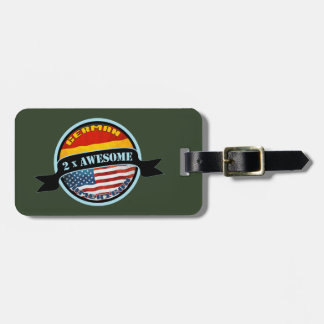 Awesome German American Luggage Tag Template
