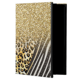 Awesome girly trendy gold leopard and zebra print powis iPad air 2 case