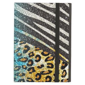 Awesome girly trendy leopard print, zebra stripes iPad air case