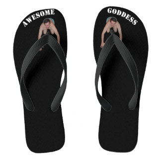 Awesome Goddess Flip Flops (guy between toes)