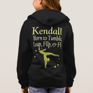 AWESOME GOLD PERSONALIZED GYMNASTICS HOODIE