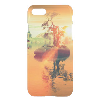 Awesome golden sunset on the sea iPhone 7 case