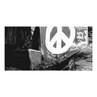 awesome graffiti peace photo card template
