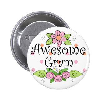 Awesome Gram T-Shirt Pin