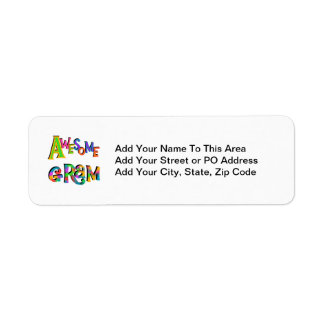 Awesome Gram T-shirts and Gifts Return Address Label