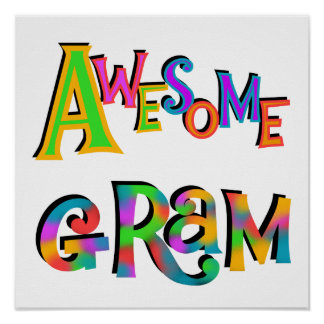 Awesome Gram T-shirts and Gifts Print