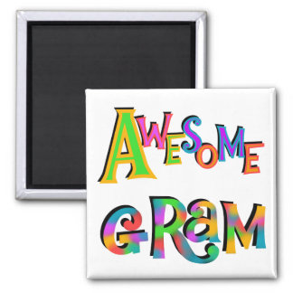Awesome Gram T-shirts and Gifts Square Magnet