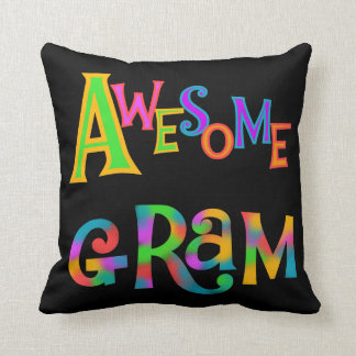 Awesome Gram T-shirts and Gifts Throw Pillow
