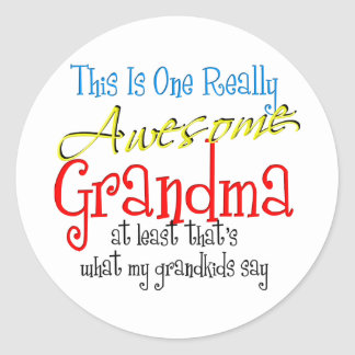 Awesome Grandma Classic Round Sticker