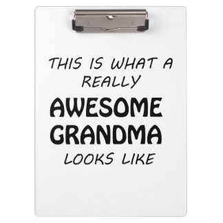 Awesome Grandma Clipboard