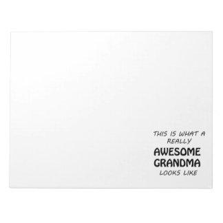Awesome Grandma Notepad