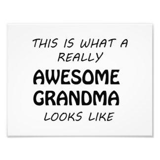 Awesome Grandma Photo Print