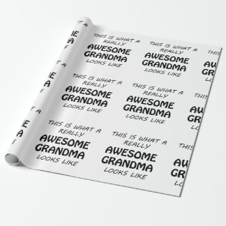 Awesome Grandma Wrapping Paper