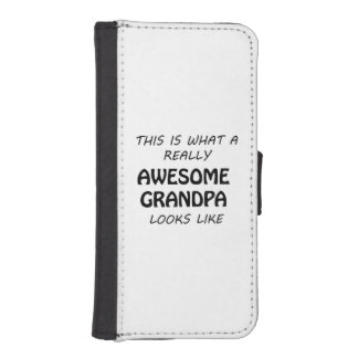 Awesome Grandpa iPhone SE/5/5s Wallet Case